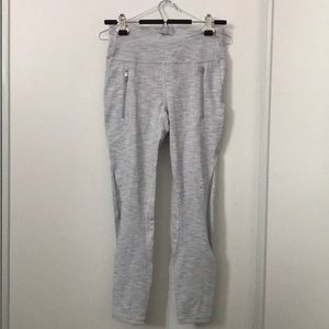 Grey Pattern Lululemon Leggings 25""